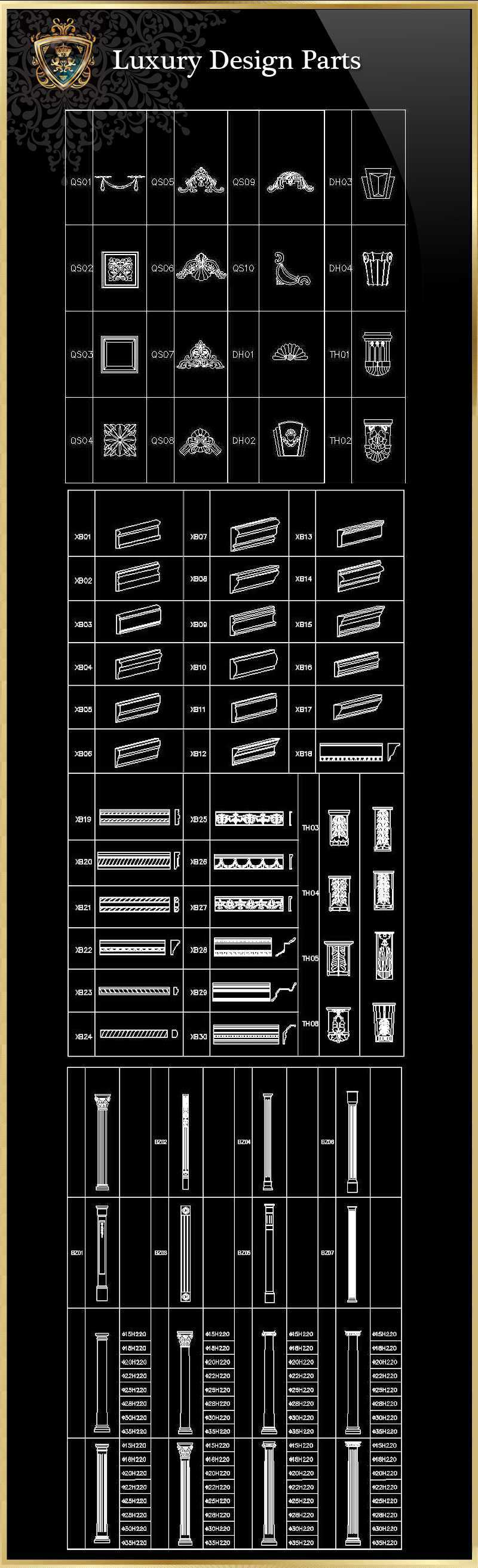 Luxury Design Parts 6download Hign Quality Cad Blocks And